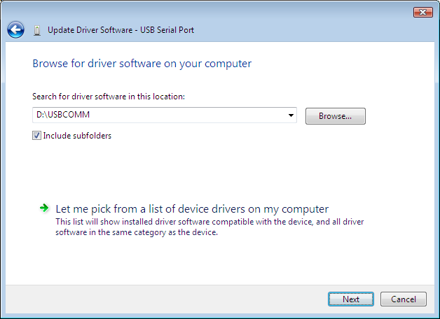6.4. Windows will ask you to install the CD. Place the CD in the computer and click I don t have the disk. Show me other options. 6.5.