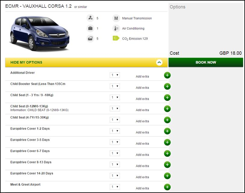 New Reservation Available Vehicles The available vehicles for the location requested will appear in the Available vehicles tab. They will be split into Car, Trucks (Vans) and Prestige.