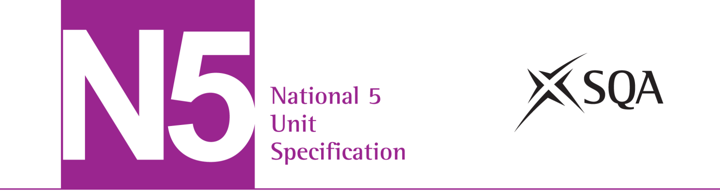 Management of Marketing and Operations (National 5) SCQF: level 5 (6 SCQF credit points) Unit code: H20V 75 Unit outline The general aim of this Unit is to develop learners understanding of the