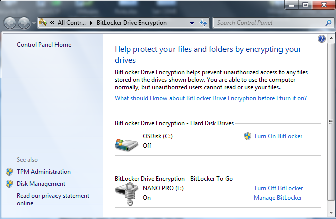 How To Turn Bitlocker Off & Decrypt The Drive In Windows 7 1.