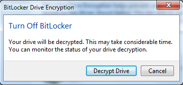 3. Scroll to the bottom of the page to view your flash drive under BitLocker To Go.