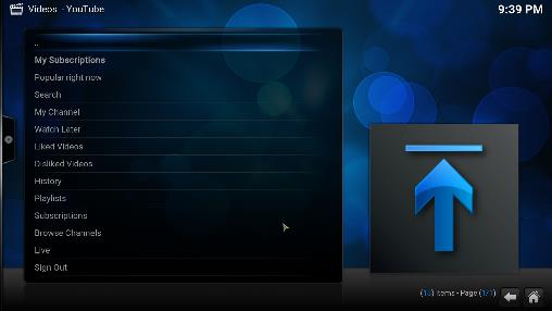 h) Return to Kodi and you ll see that Kodi screen displays a second activation code in the same format. i) Return to http://youtube.