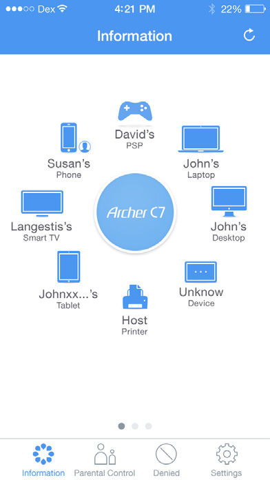 Tether App Easy Network Management at Your Fingertips New web UI Simple & Easy Connect, Monitor and Control TP-LINK Tether provides the easiest way to access and manage the router on your ios and