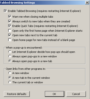 TxEIS on Internet Explorer 7 General Set Up Recommendations: Several modifications will need to be made to the computer settings in Internet Explorer to ensure TxEIS runs smoothly, reports pop up as