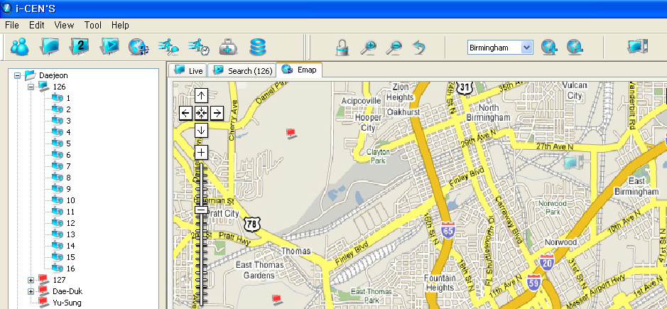 5.2 Site Configuration Drag and drop the site to E-map window. 1 2 1.