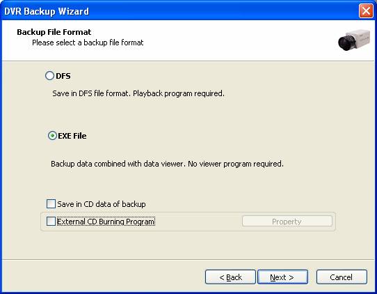 7.1.3 Backup data CD Recording 12 1. Save in CD data of backup: Tick this to backup data to blank formatted RW CD.