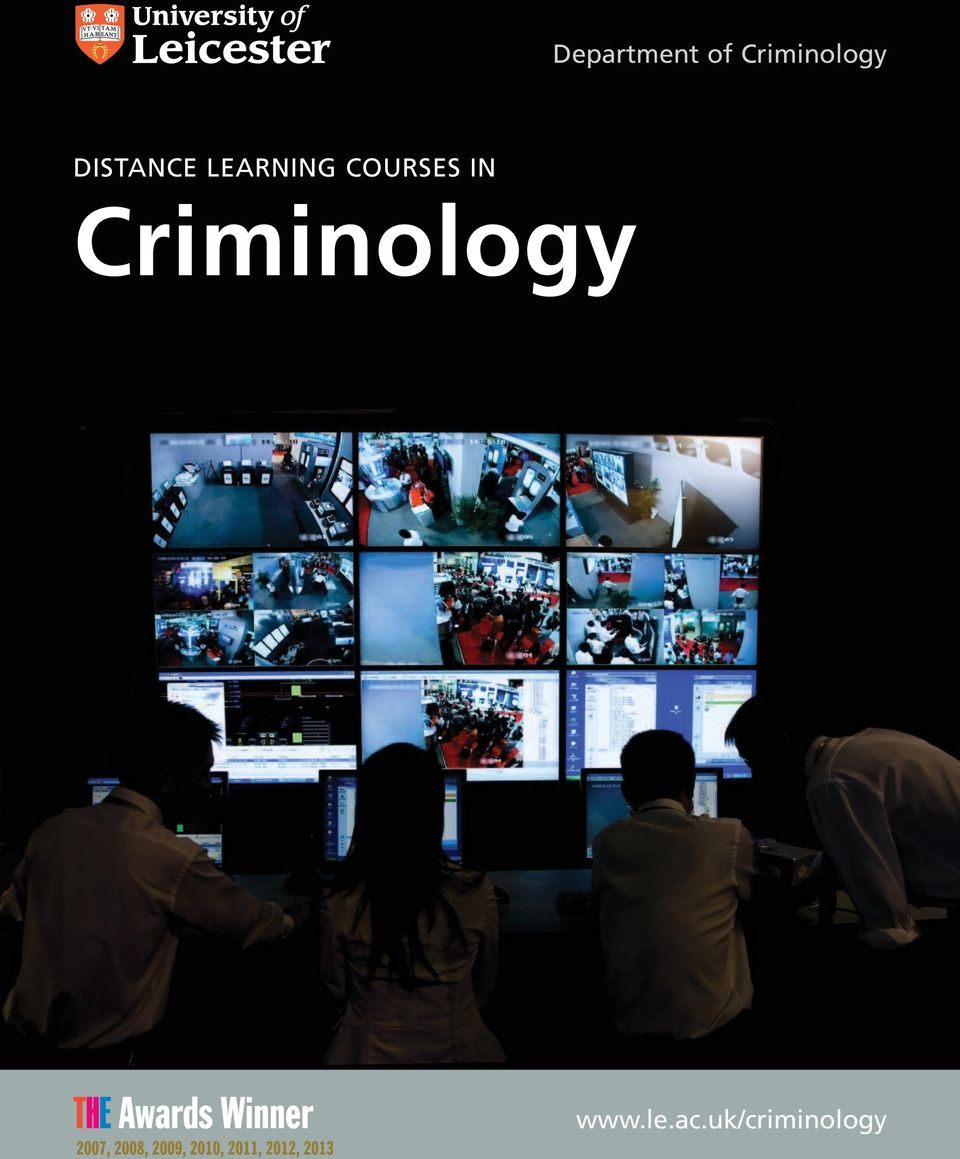 IN Criminology www.le.ac.
