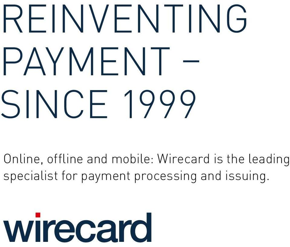 Wirecard is the leading