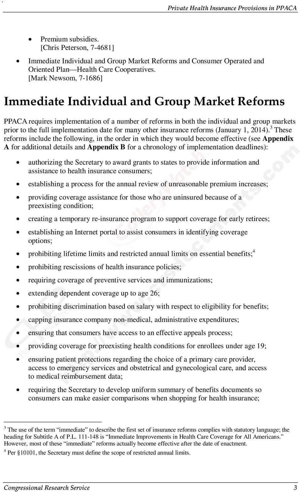 for many other insurance reforms (January 1, 2014).