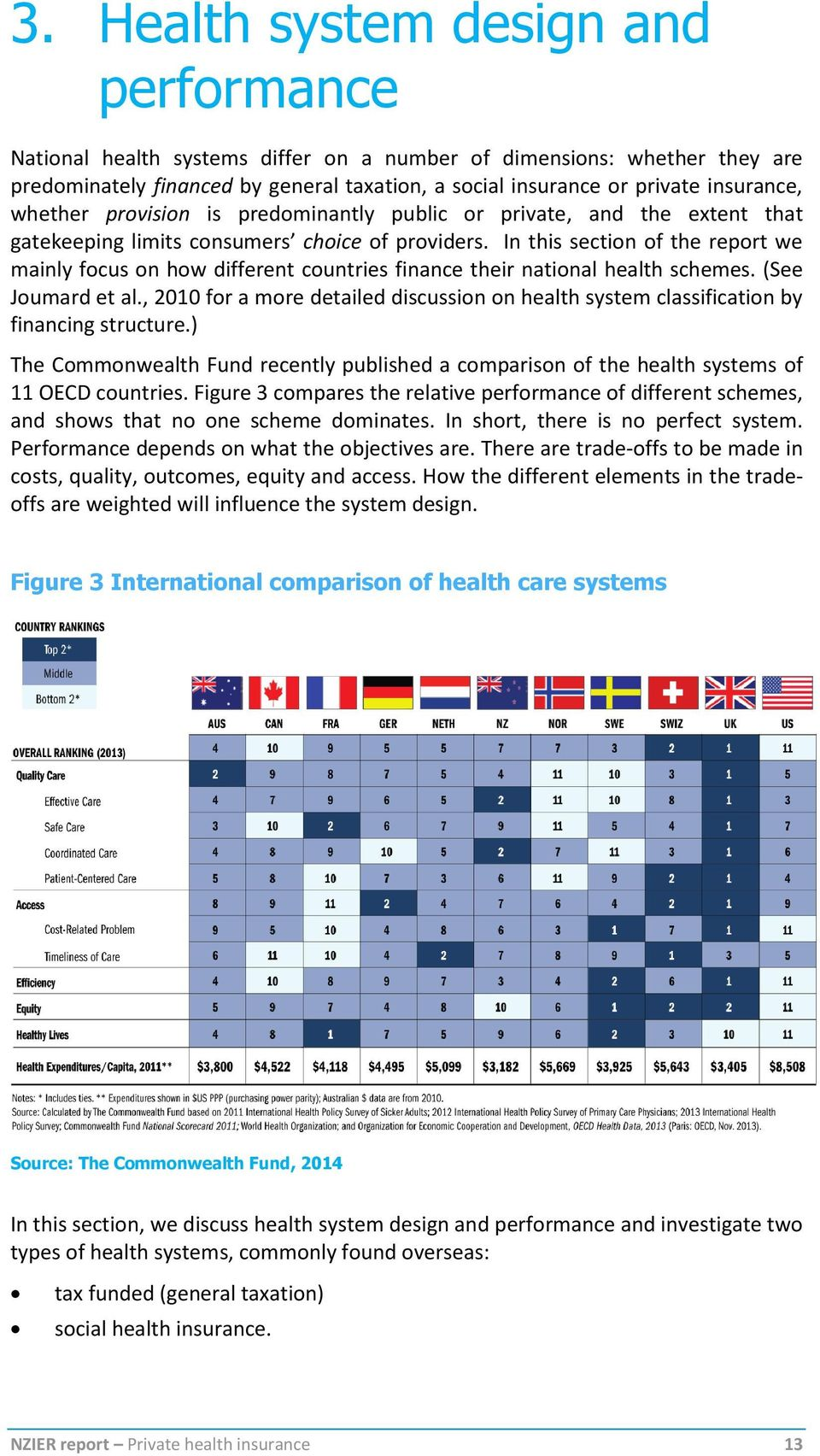 In this section of the report we mainly focus on how different countries finance their national health schemes. (See Joumard et al.