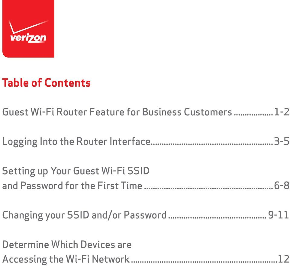 ..3-5 Setting up Your Guest Wi-Fi SSID and Password for the First Time.