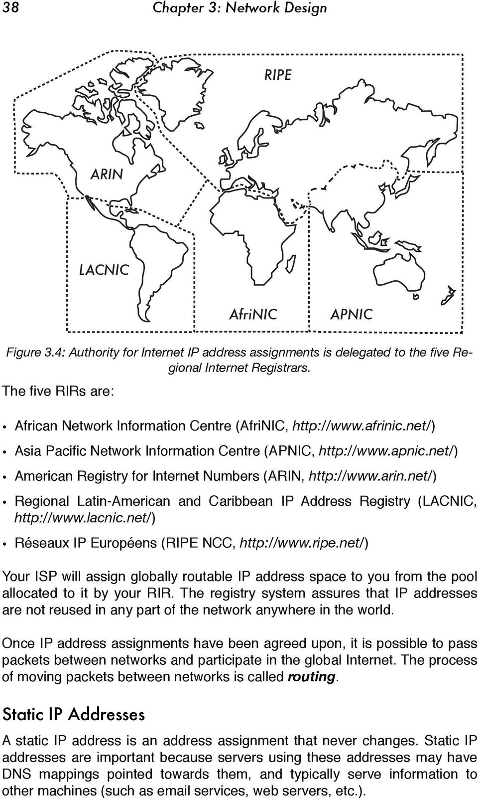 net/) American Registry for Internet Numbers (ARIN, http://www.arin.net/) Regional Latin-American and Caribbean IP Address Registry (LACNIC, http://www.lacnic.