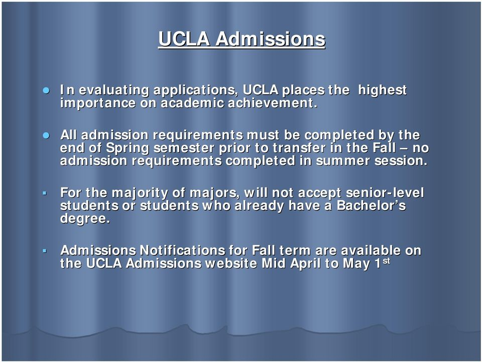 ucla admission essay requirements Ucla advances knowledge, addresses pressing societal needs and creates a university enriched by diverse perspectives where all individuals can flourish.