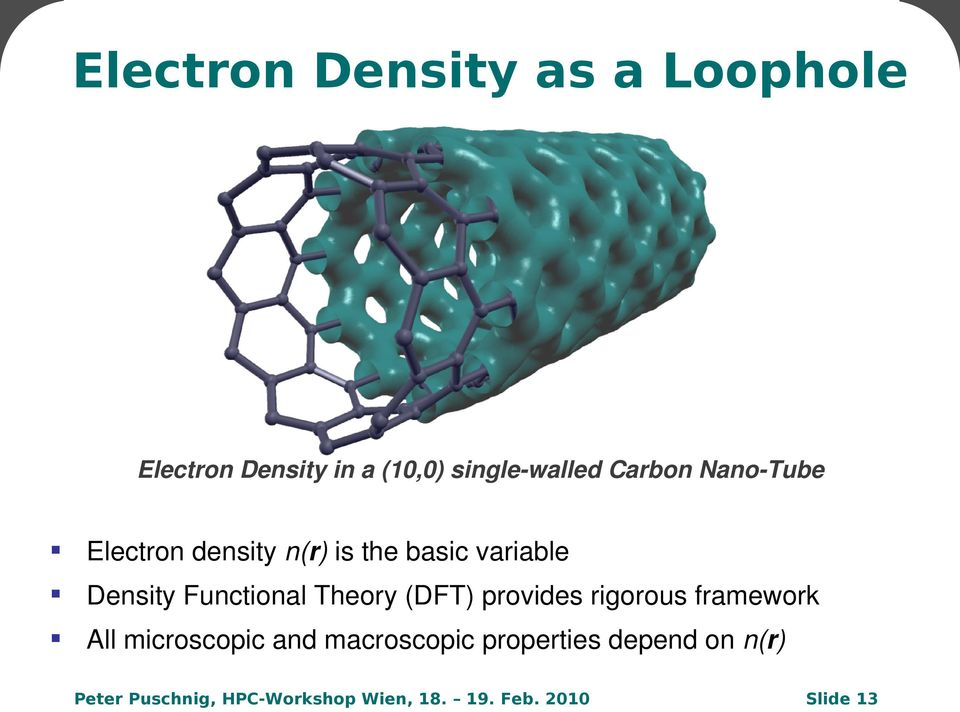 variable Density Functional Theory (DFT) provides rigorous