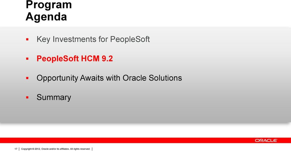 2 Opportunity Awaits with Oracle Solutions