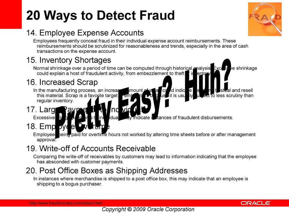 How would some one commit inventory fraud in an organization?