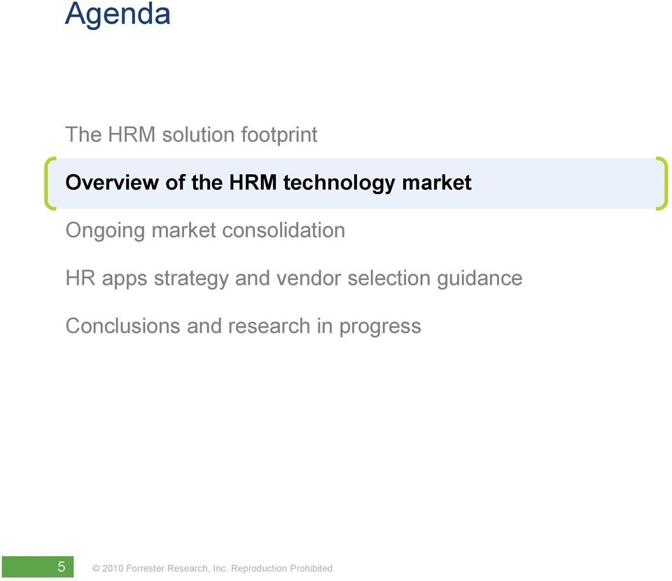 consolidation HR apps strategy and vendor
