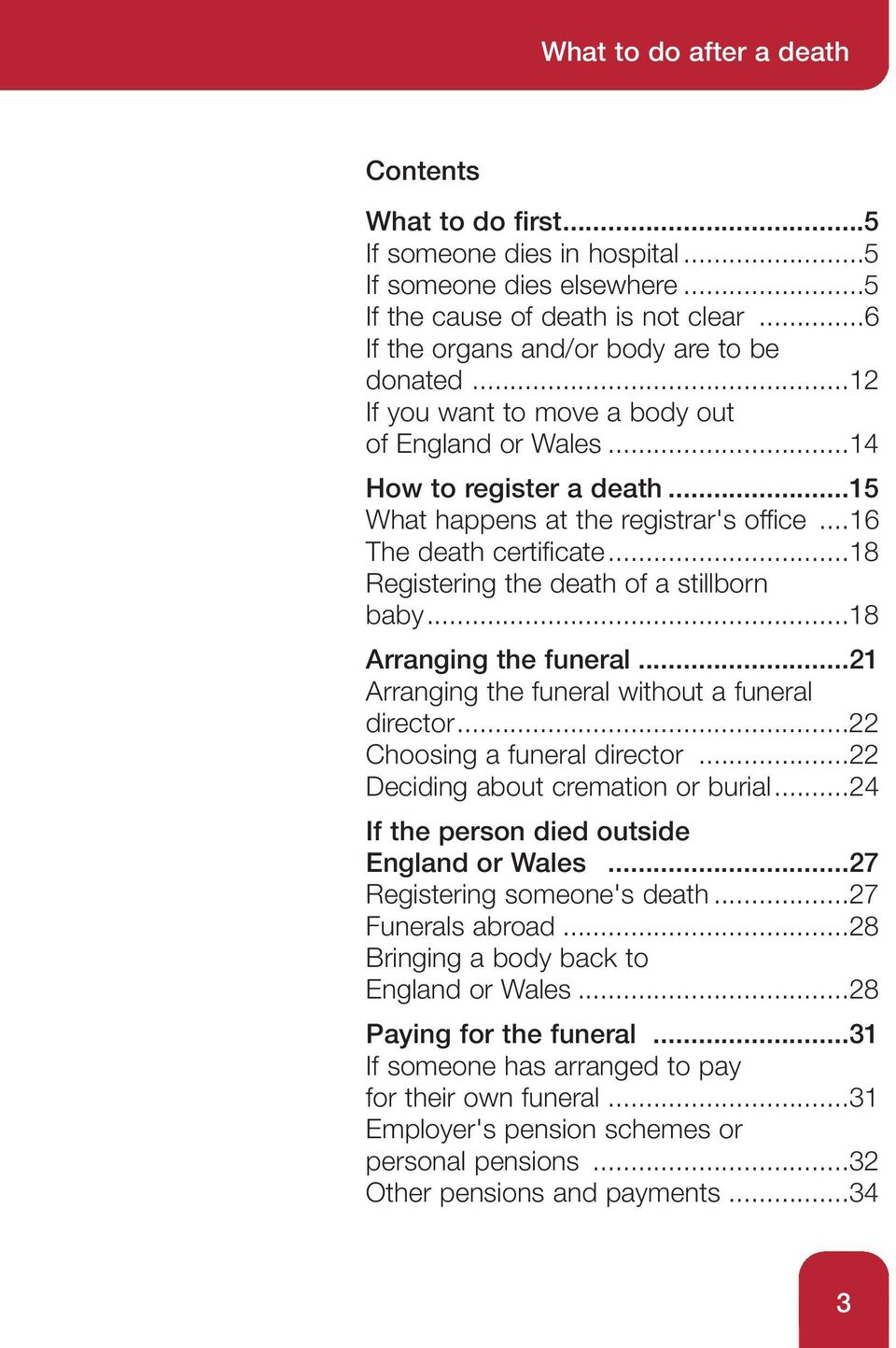 ..18 Registering the death of a stillborn baby...18 Arranging the funeral...21 Arranging the funeral without a funeral director...22 Choosing a funeral director...22 Deciding about cremation or burial.