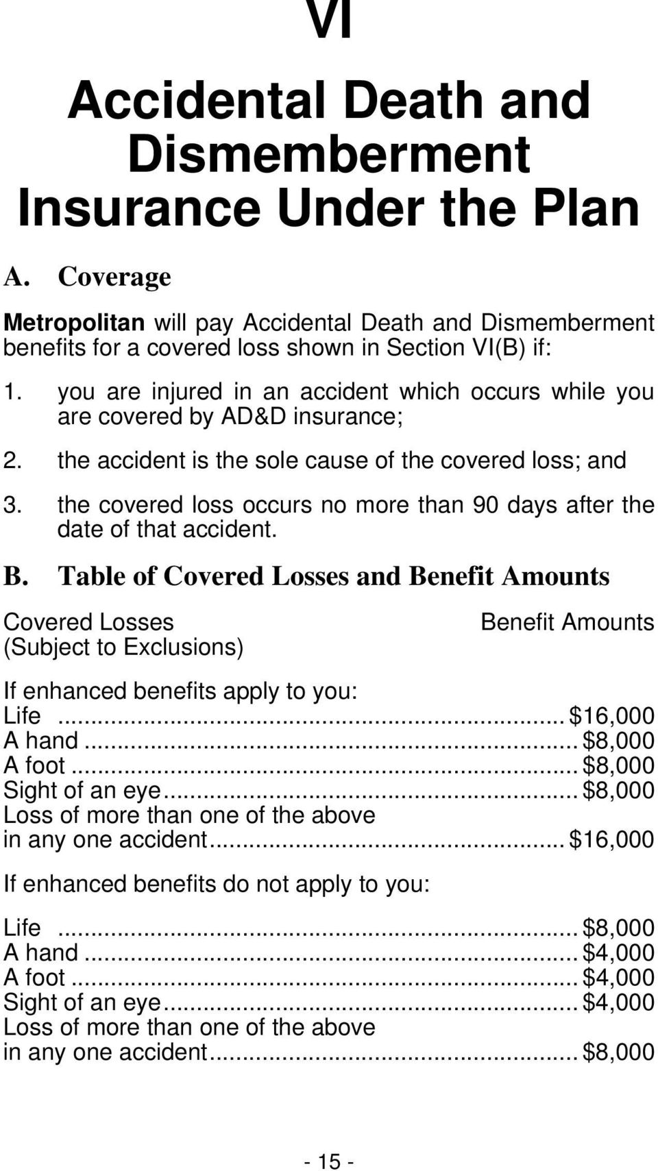 the covered loss occurs no more than 90 days after the date of that accident. B.