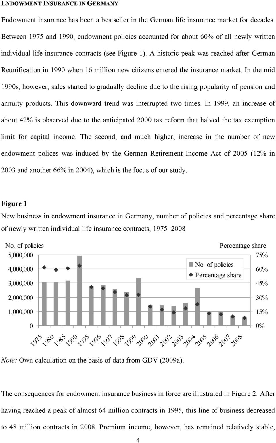 A historic peak was reached after German Reunification in 1990 when 16 million new citizens entered the insurance market.