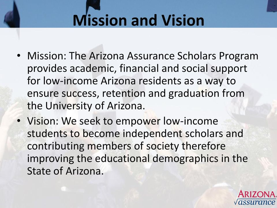 from the University of Arizona.
