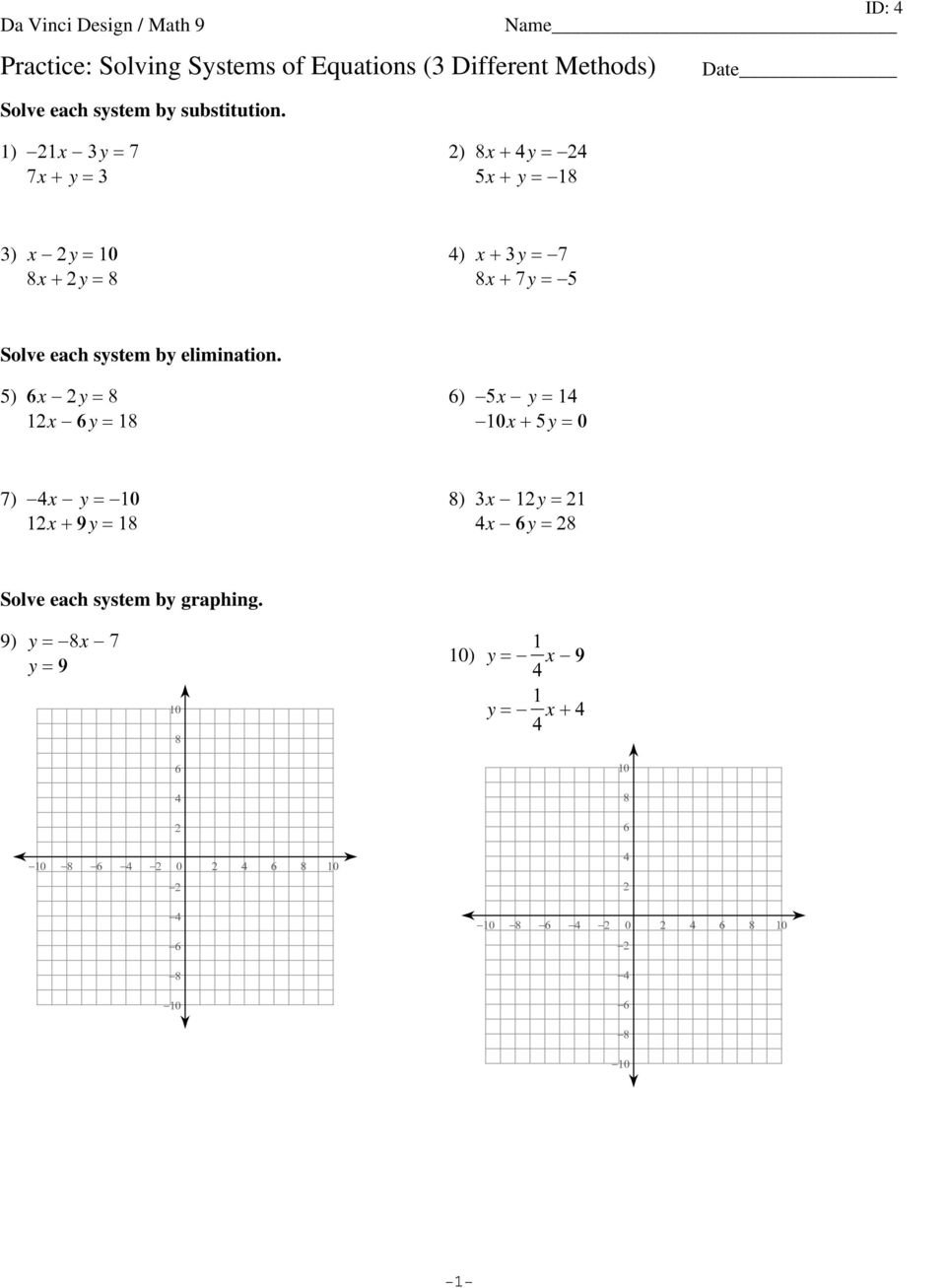 Solving Linear Equations With Fractions Practice Tessshebaylo – Solving Systems of Linear Equations by Graphing Worksheet