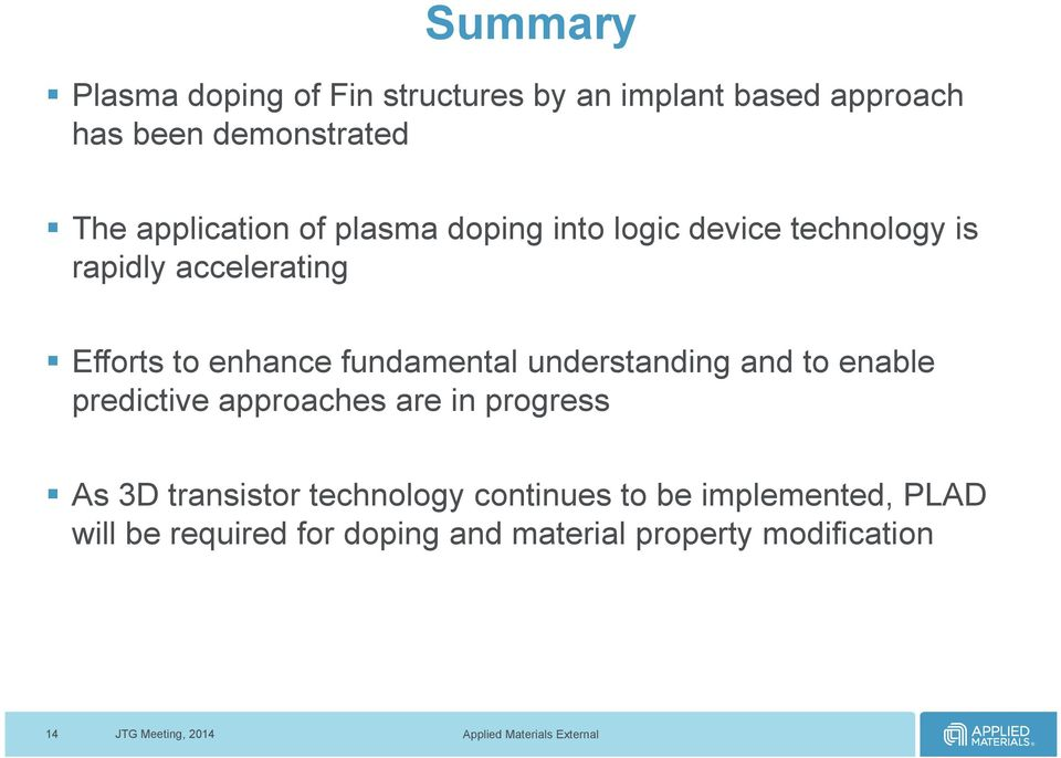 fundamental understanding and to enable predictive approaches are in progress As 3D transistor
