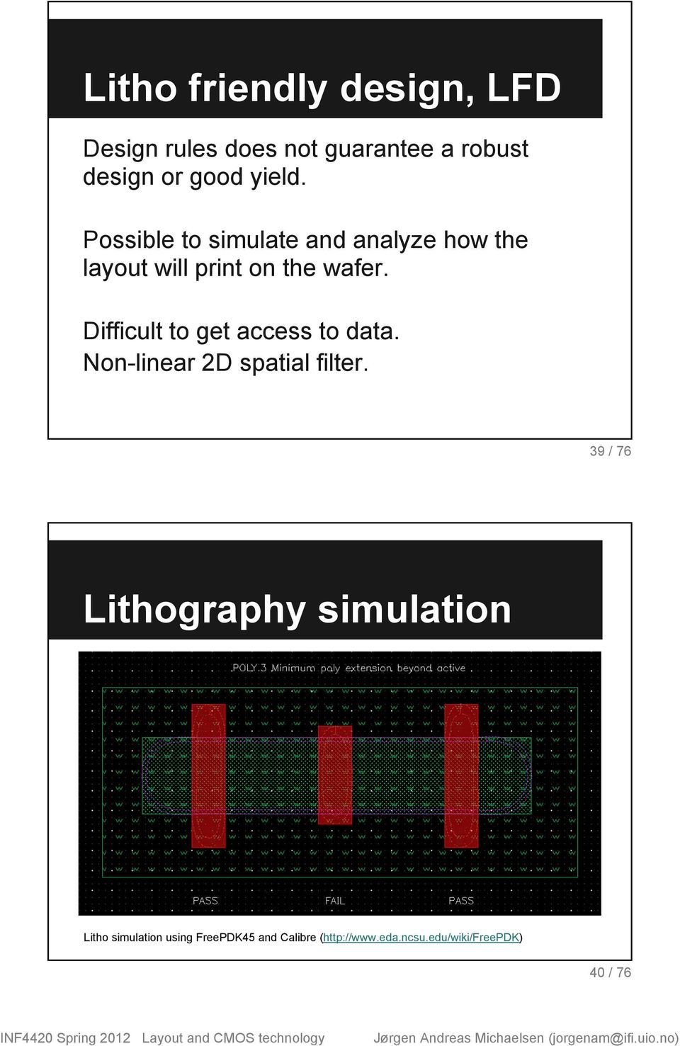 Difficult to get access to data. Non-linear 2D spatial filter.