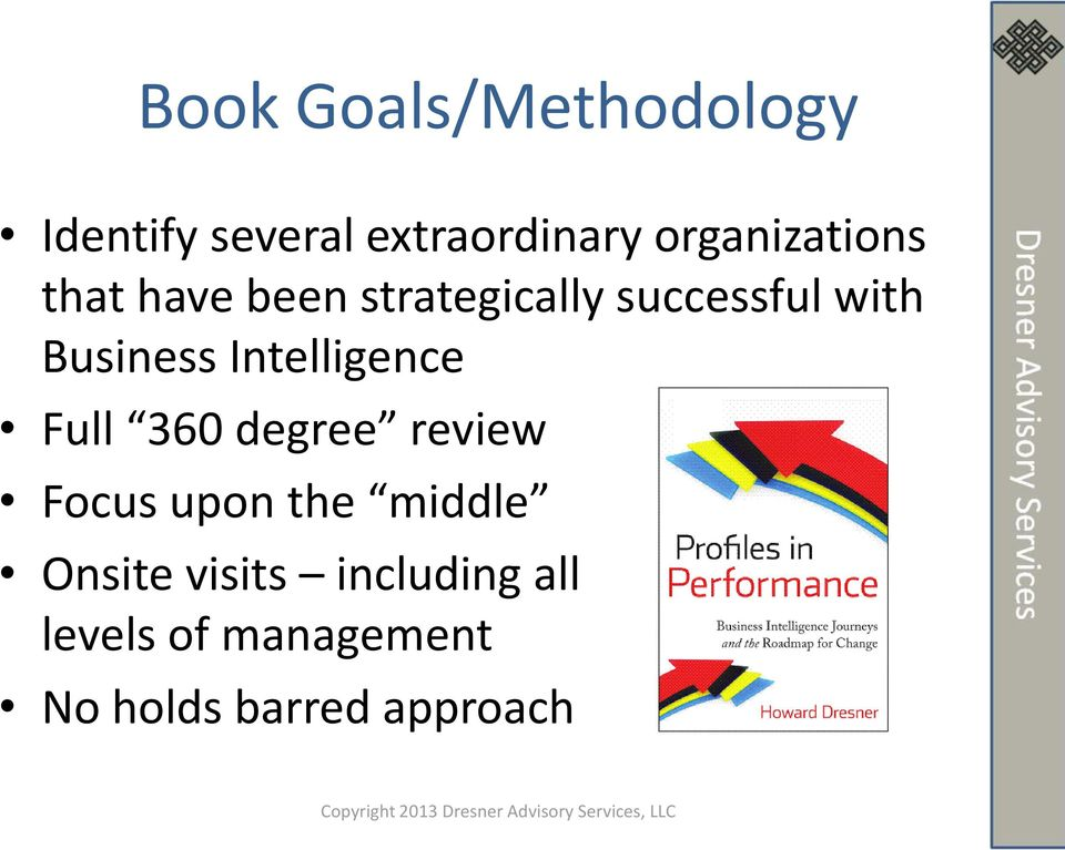 Business Intelligence Full 360 degree review Focus upon the