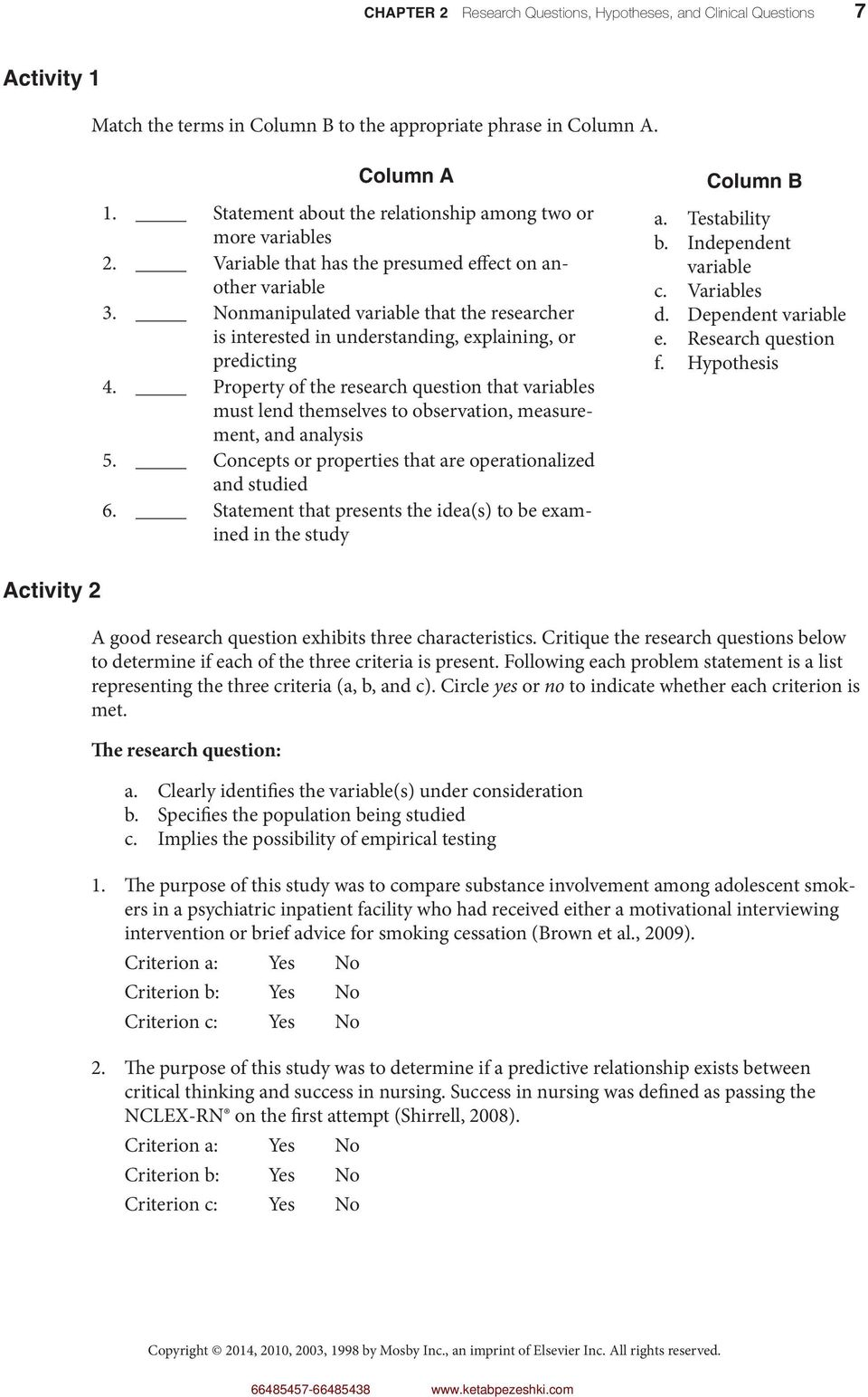 characteristics of a research problem statement