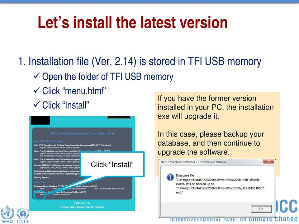 html Click Install Click Install If you have the former version installed in your PC,