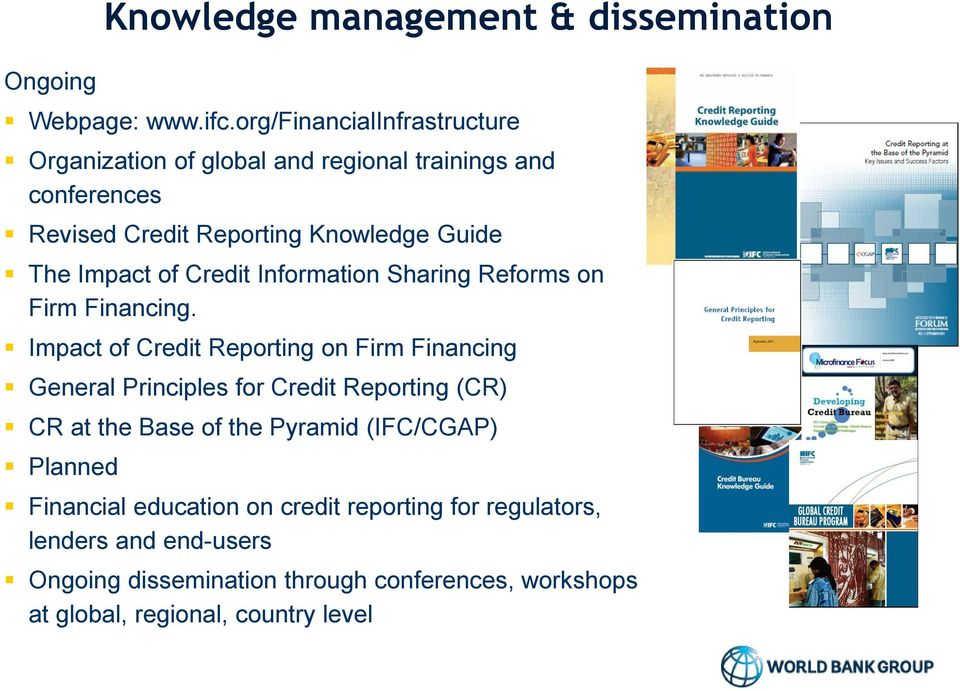 of Credit Information Sharing Reforms on Firm Financing.