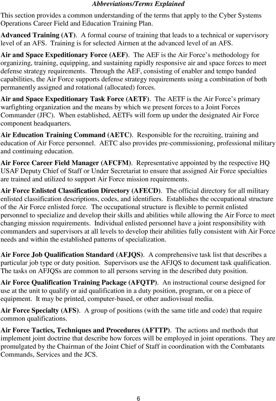 afsc dx cyber systems operations pdf the aef is the air force s methodology for organizing training equipping and