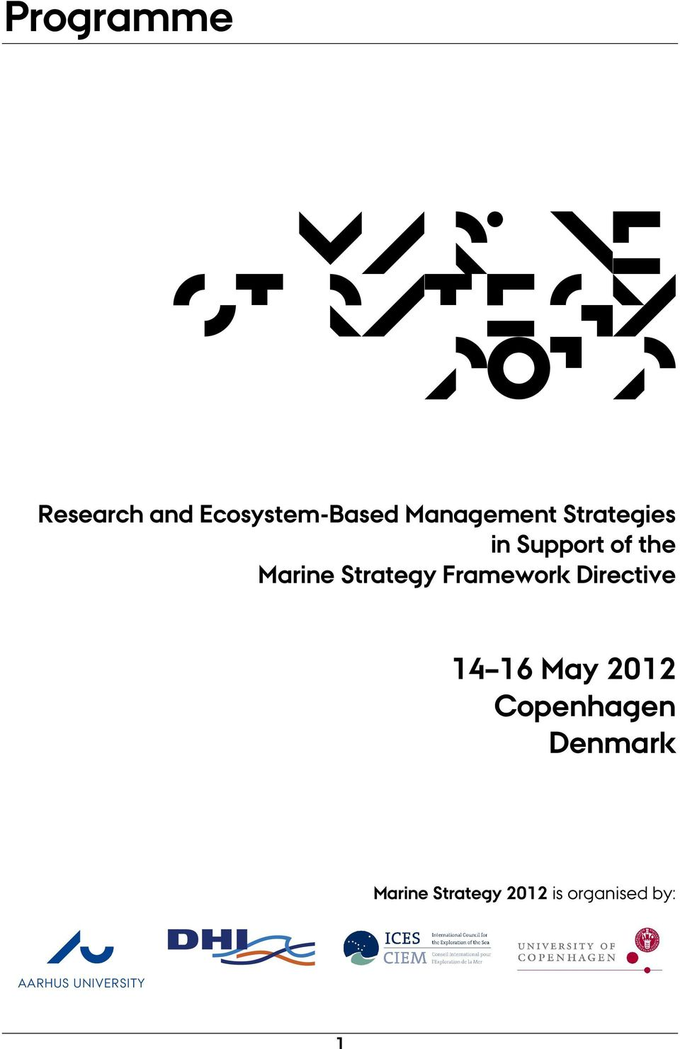 Marine Strategy Framework Directive 14 16 May 2012