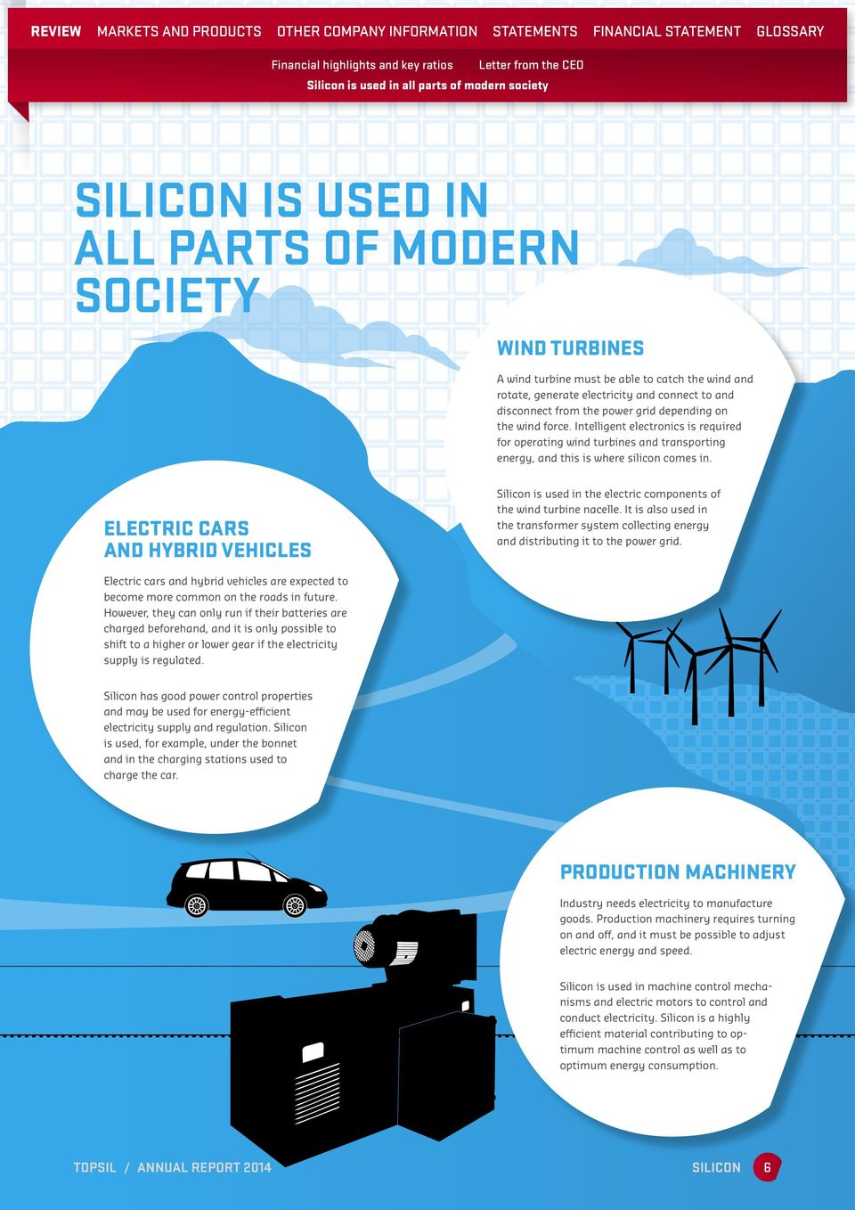 Intelligent electronics is required for operating wind turbines and transporting energy, and this is where silicon comes in.