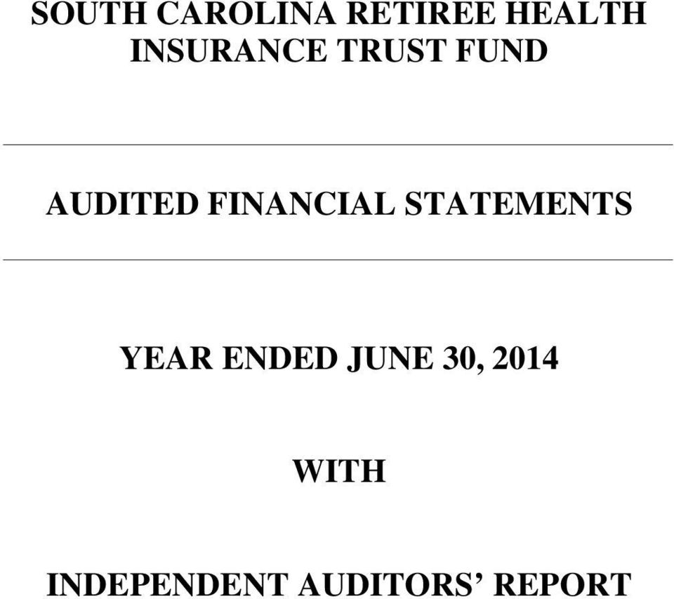 FINANCIAL STATEMENTS YEAR ENDED