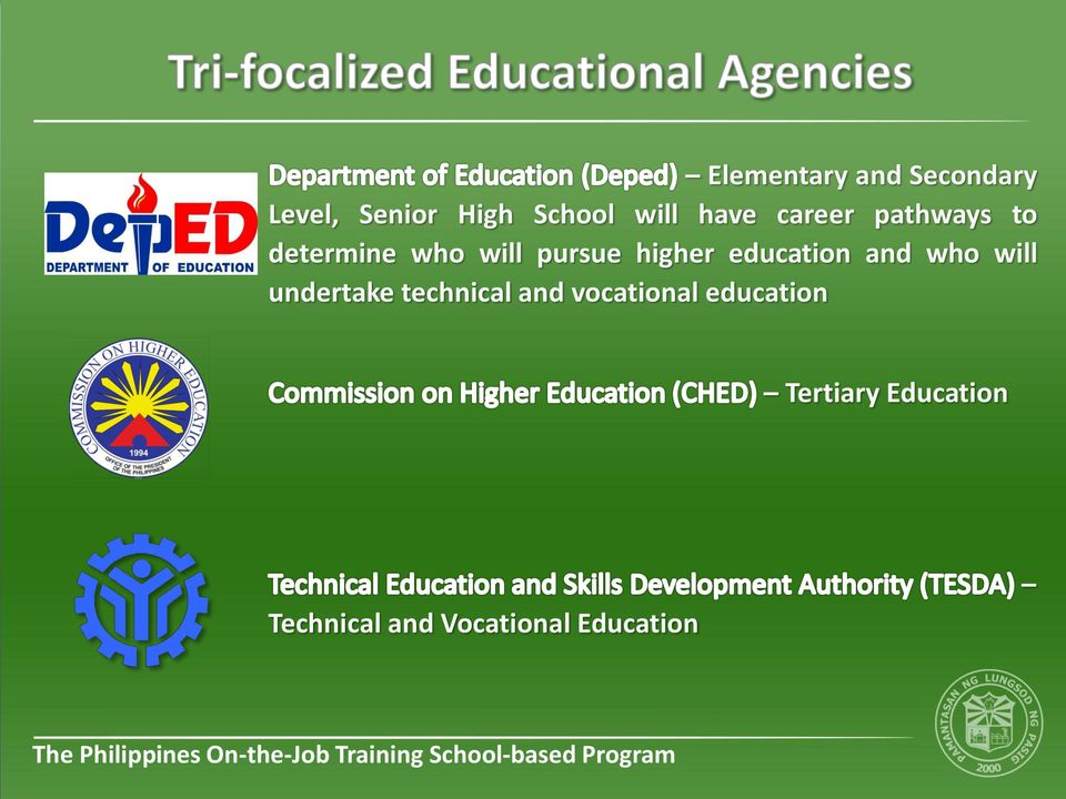 education and who will undertake technical and vocational