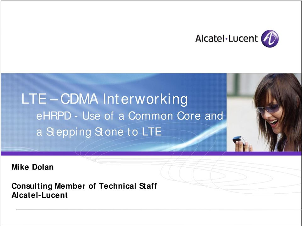 Stone to LTE Mike Dolan Consulting