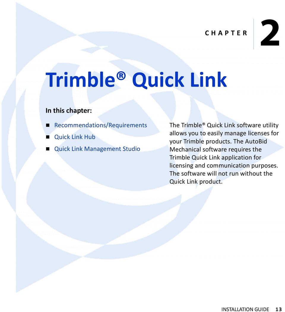 Trimble products.