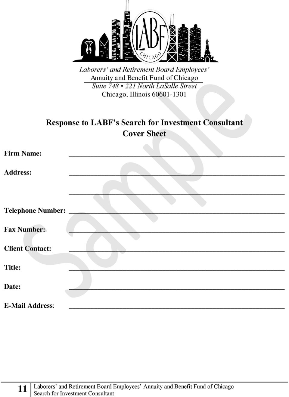 60601-1301 Response to LABF s Cover Sheet Firm Name: Address: