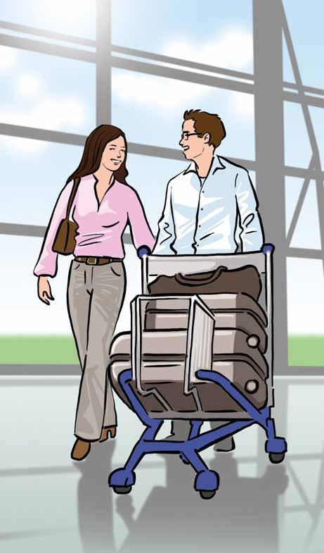 In most cases, your checked luggage will be automatically forwarded to your final destination.