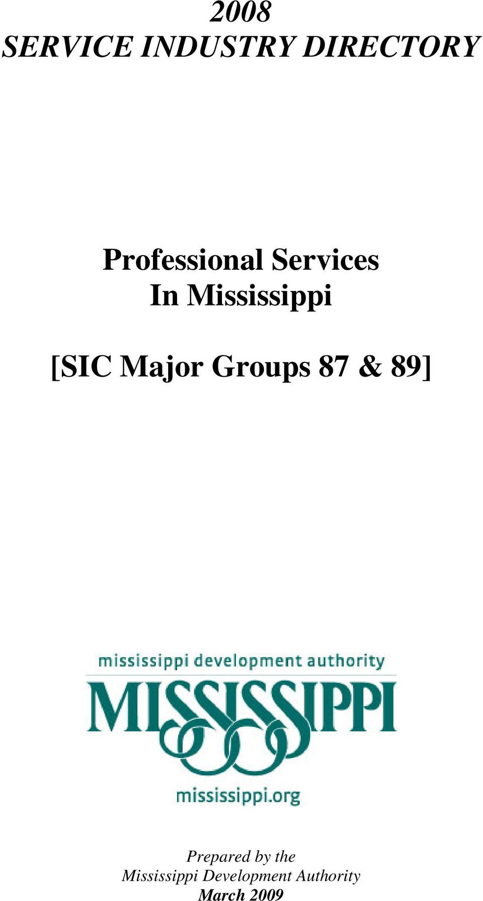 [SIC Major Groups 87 & 89] Prepared by