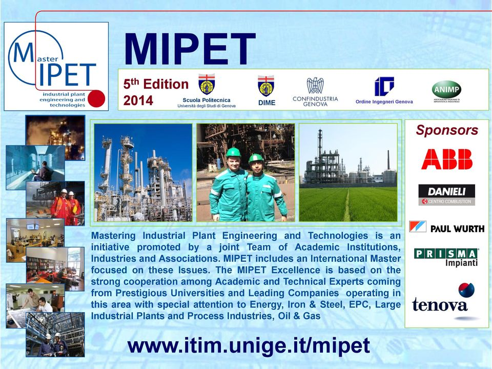 MIPET includes an International Master focused on these Issues.