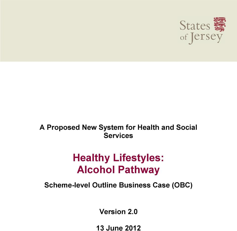 Alcohol Pathway Scheme-level Outline
