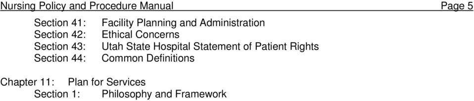 Utah State Hospital Statement of Patient Rights Section 44: Common