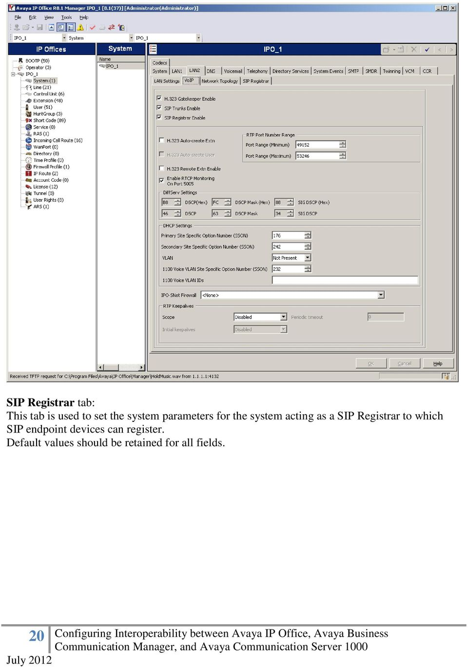 Registrar to which SIP endpoint devices can