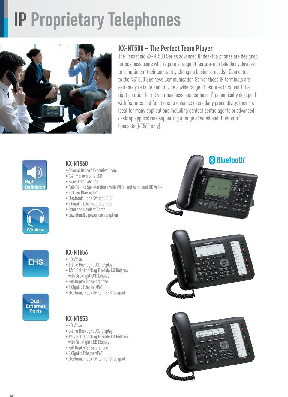 Connected to the NS1000 Business Communication Server these IP terminals are extremely reliable and provide a wide range of features to support the right solution for all your business applications.