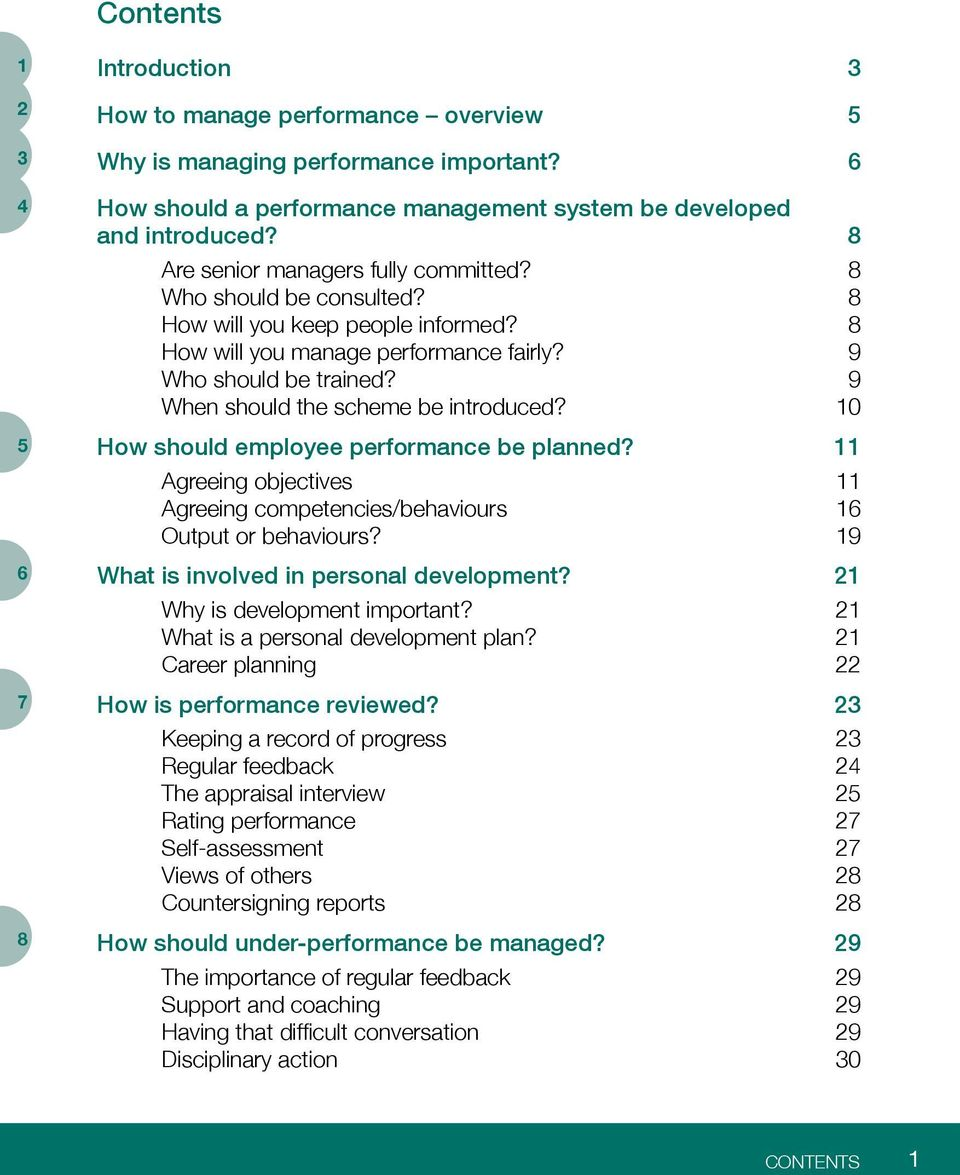 How should employee performance be planned? Agreeing objectives Agreeing competencies/behaviours Output or behaviours? What is involved in personal development? Why is development important?