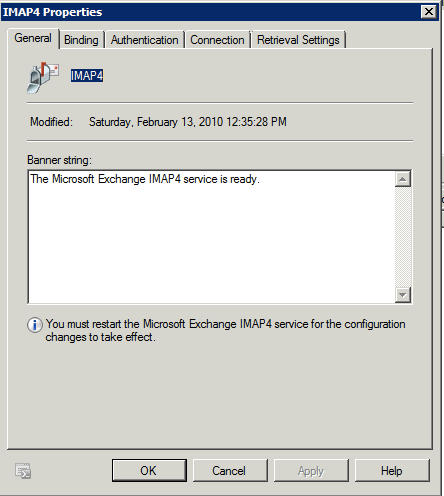 Troubleshooting If the monitor created for IMAP services does not go up when there is physical connectivity to the Exchange Server, you may need to customize the application monitor.