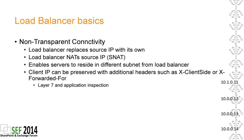 load balancer Client IP can be preserved with additional headers such as X-ClientSide or